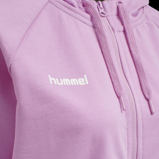 HUMMEL GO COTTON ZIP HOODIE WOMAN, ORCHID, packshot