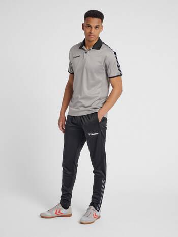 hmlAUTHENTIC POLY PANT, BLACK/WHITE, model