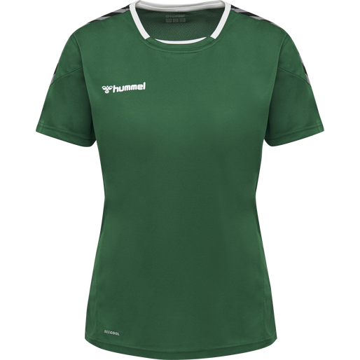 hmlAUTHENTIC POLY JERSEY WOMAN S/S, EVERGREEN, packshot
