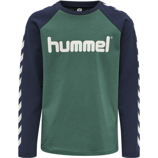 hmlBOYS T-SHIRT LS, MALLARD GREEN, packshot