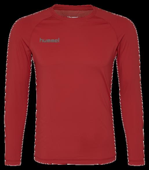 HUMMEL FIRST PERFORMANCE JERSEY L/S, TRUE RED, packshot