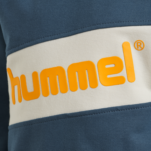 hmlCLEMENT SWEAT, MAJOLICA BLUE, packshot