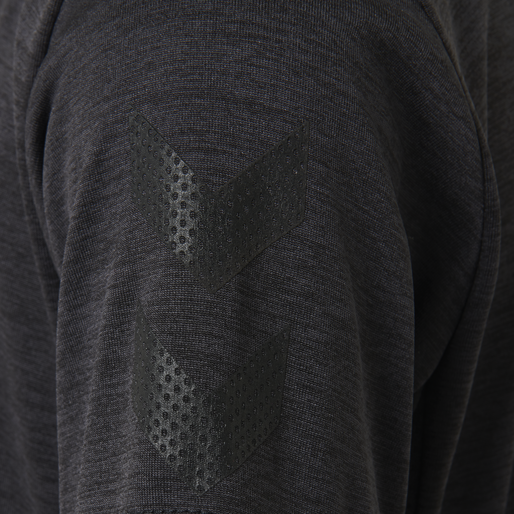 hmlHARALD T-SHIRT SS, GRAPHITE/BLACK, packshot