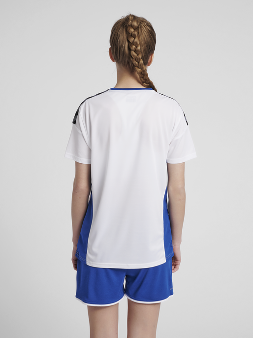 hmlAUTHENTIC POLY JERSEY WOMAN S/S, WHITE/TRUE BLUE, model