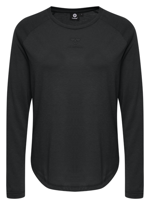 hmlVANJA T-SHIRT L/S, BLACK, packshot