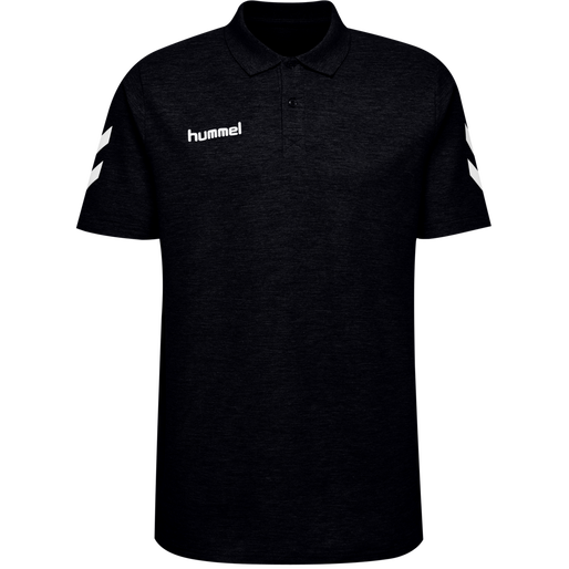 HUMMEL GO COTTON POLO, BLACK, packshot