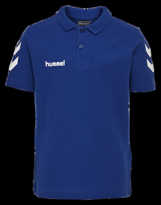 HUMMEL GO KIDS COTTON POLO, TRUE BLUE, packshot