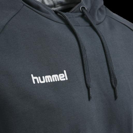 HUMMEL GO COTTON HOODIE, INDIA INK, packshot