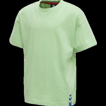 hmlETHAN T-SHIRT S/S, GREEN ASH, packshot