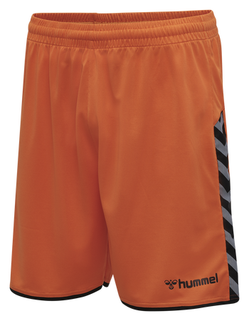hmlAUTHENTIC POLY SHORTS, TANGERINE, packshot