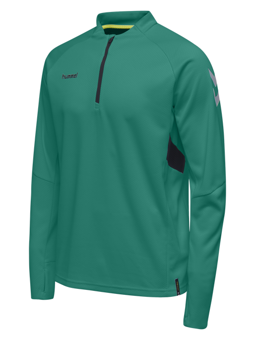 TECH MOVE KIDS HALF ZIP SWEATSHIRT, SPORTS GREEN, packshot