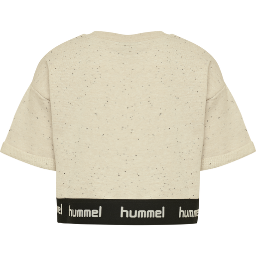 hmlSIA CROPPED TOP, CEMENT, packshot