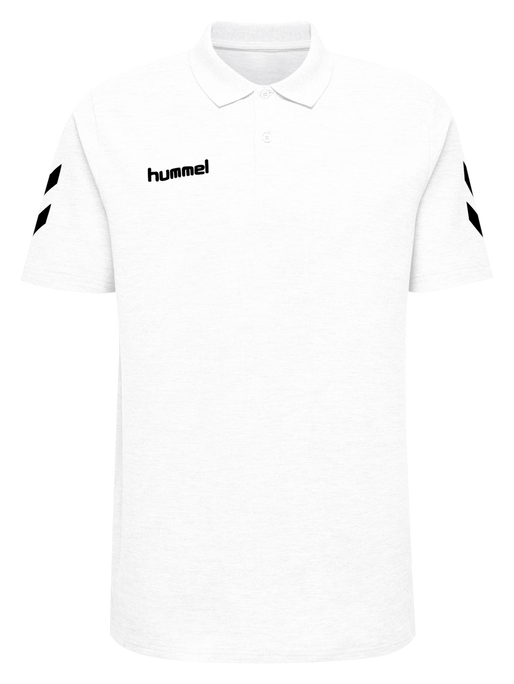 HUMMEL GO COTTON POLO, WHITE, packshot