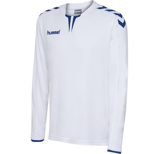 CORE LS POLY JERSEY, WHITE/TRUE BLUE, packshot