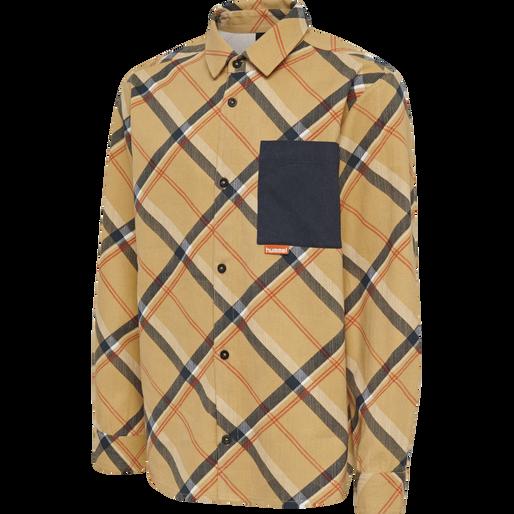 hmlJOHN SHIRT L/S, PRAIRIE SAND, packshot