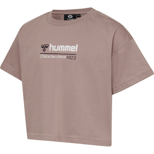 hmlCLARE CROPPED T-SHIRT S/S, DEAUVILLE MAUVE, packshot
