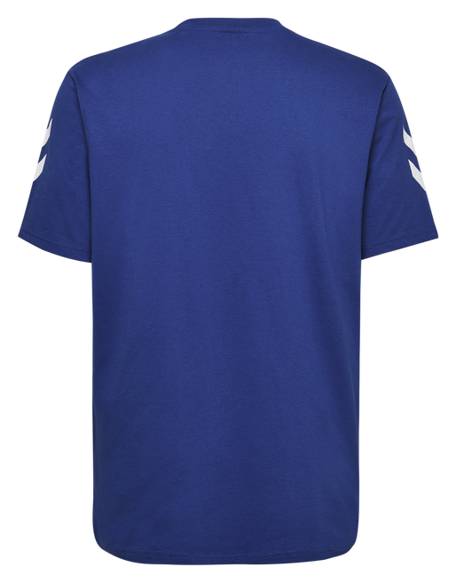 HUMMEL GO COTTON T-SHIRT S/S, TRUE BLUE, packshot