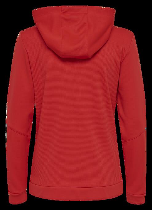 hmlAUTHENTIC POLY ZIP HOODIE WOMAN, TRUE RED, packshot
