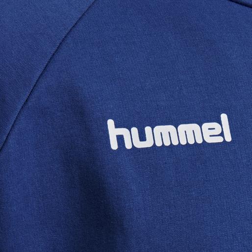 HUMMEL GO COTTON ZIP HOODIE, TRUE BLUE, packshot