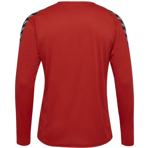 hmlAUTHENTIC KIDS POLY JERSEY L/S, TRUE RED, packshot