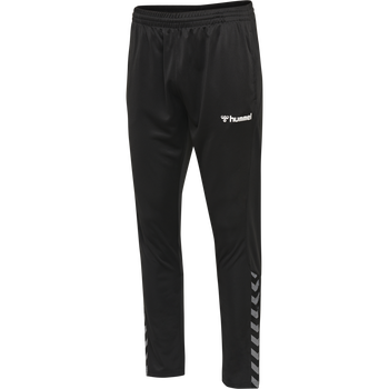 hmlAUTHENTIC KIDS POLY PANT, BLACK/WHITE, packshot