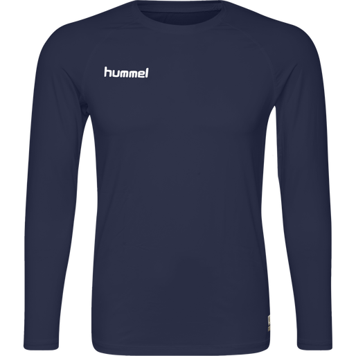 HUMMEL FIRST PERFORMANCE JERSEY L/S, MARINE, packshot