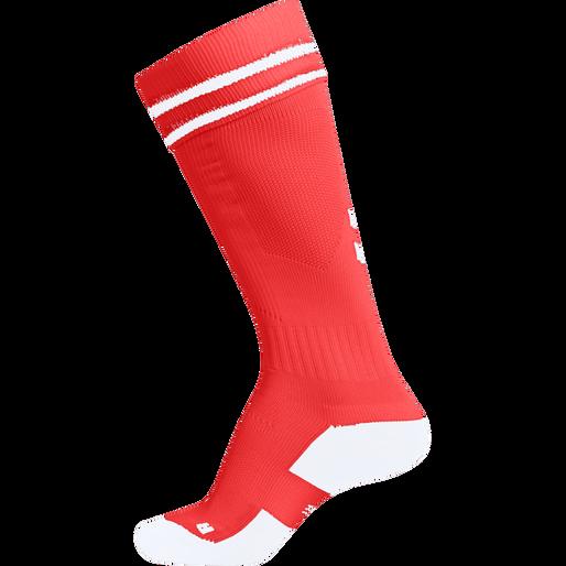 ELEMENT FOOTBALL SOCK , FIRE RED/WHITE, packshot
