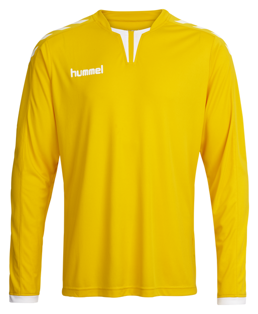 CORE LS POLY JERSEY, SPORTS YELLOW PR, packshot
