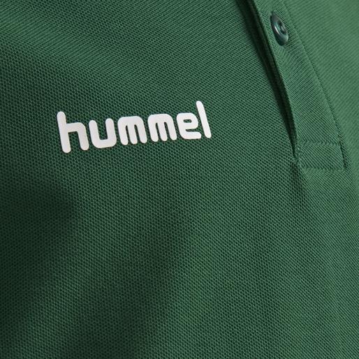 HUMMEL GO KIDS COTTON POLO, EVERGREEN, packshot
