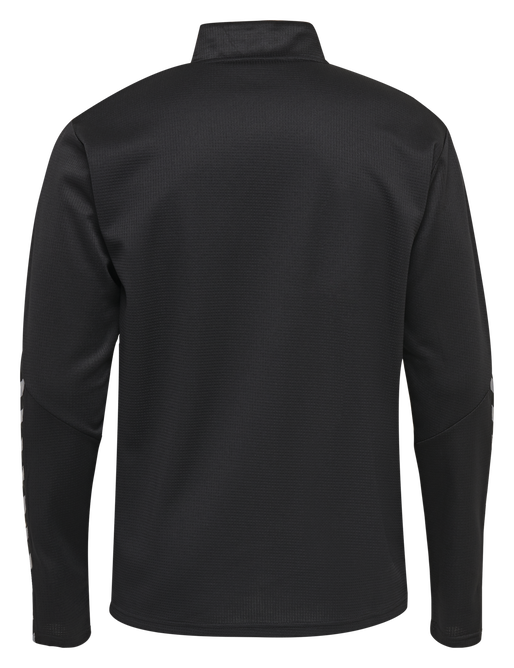 hmlAUTHENTIC KIDS HALF ZIP SWEATSHIRT, BLACK/WHITE, packshot