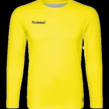 HUMMEL FIRST PERFORMANCE JERSEY L/S, BLAZING YELLOW, packshot