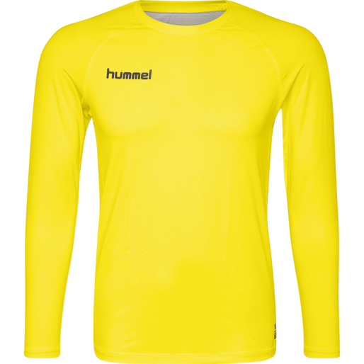 HUMMEL FIRST PERFORMANCE JERSEY L/S, BLAZING YELLOW, packshot