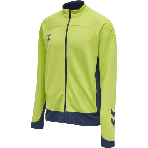 hmlLEAD POLY ZIP JACKET, LIME PUNCH, packshot