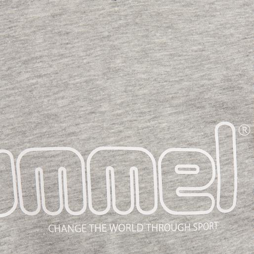 hmlMARCEL T-SHIRT S/S, GREY MELANGE, packshot