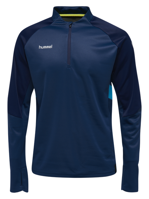 TECH MOVE KIDS HALF ZIP SWEATSHIRT, SARGASSO SEA, packshot