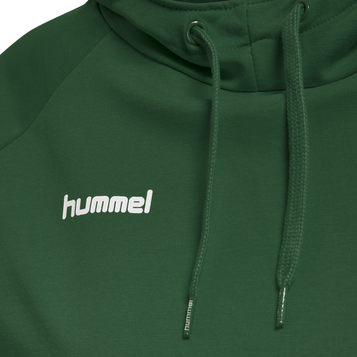 HUMMEL GO COTTON HOODIE WOMAN, EVERGREEN, packshot