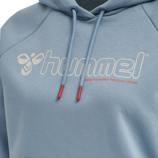 hmlNONI HOODIE, FADED DENIM, packshot