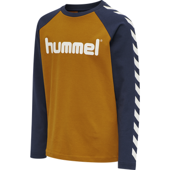 hmlBOYS T-SHIRT LS, PUMPKIN SPICE, packshot