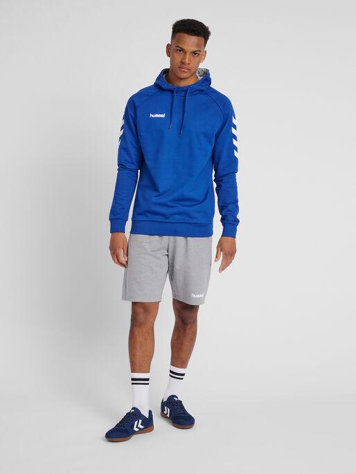 HUMMEL GO COTTON HOODIE, TRUE BLUE, model